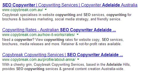 SEO Copywriter Adelaide Australia