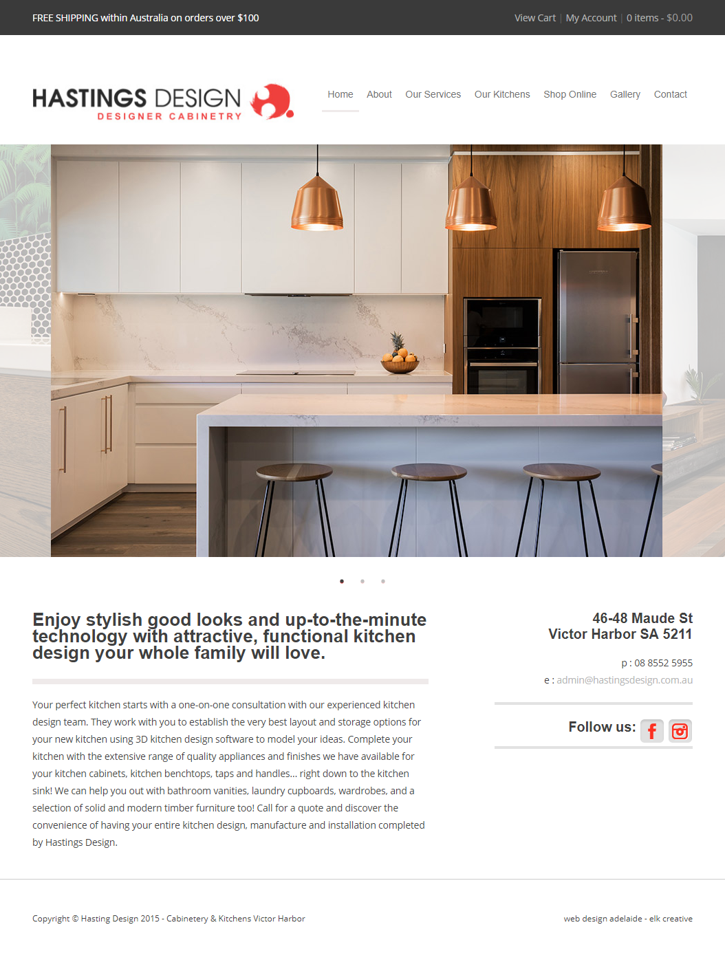 Hastings Design - Website Copy