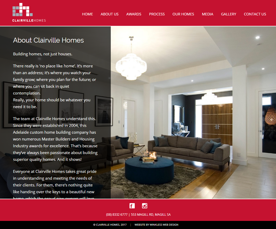 Clairville Homes Website Copy